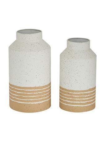 UMA - Metal Striped Vase (12