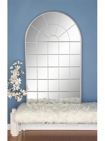 UMA - Rounded Windowpane Metal Mirror 56
