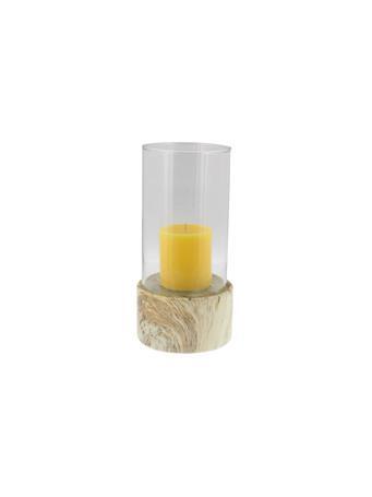 UMA - Ceramic Hurricane Candle Holder WHITE