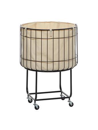 UMA - Metal Storage Cart with Fabric Lining NO-COLOR