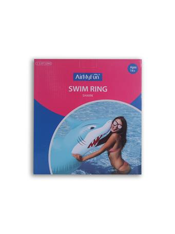 AIR MY FUN - Shark Swim Ring BLUE