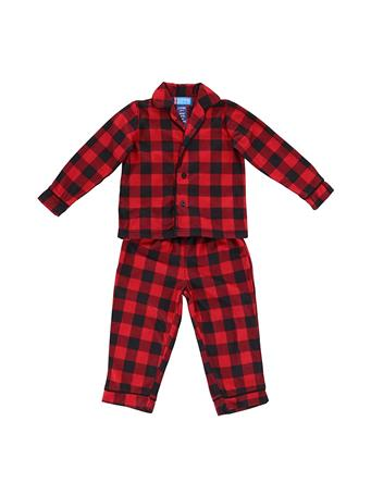 ONLY BOYS - Sleepy Scouts 2 Piece Pajama Set RED-PLAID
