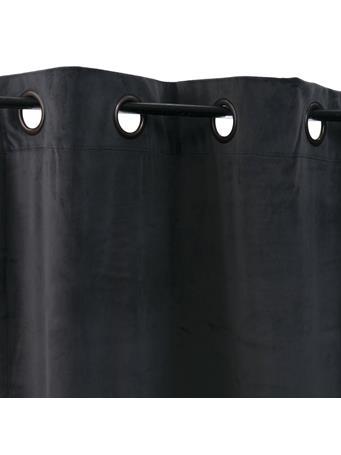 SIGNATURE DESIGN - Solid Velvet Grommet Panel CHARCOAL