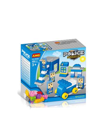 JUMEI - 49 PC. Police Station Building Blocks Set POLICE