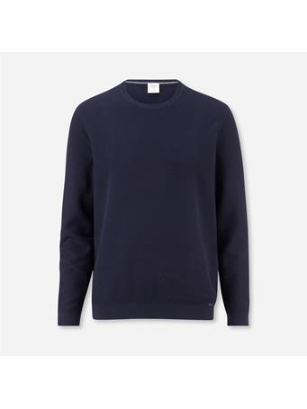 OLYMP -  Level Five Knitwear Body Fit, Pullover Crew Neck NAVY