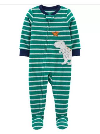 CARTER'S - 1-Piece Dinosaur Fleece Footie PJs NOVELTY