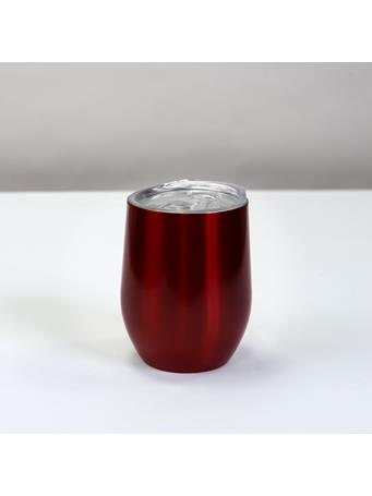 32°N - Stainless Steel Vacuum Insulated 12oz Wine Tumbler with Slider Lid METALLIC RED