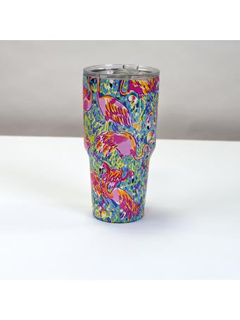32°N - Stainless Steel Vacuum Insulated 30oz Tumbler with Slider Lid - Flamingo No-Color