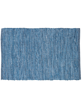 HOME ESSENTIALS - Cotton Scatter Rug - Blue Mix BLUE