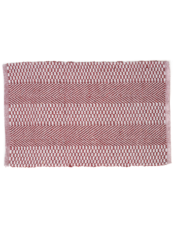 HOME ESSENTIALS - Cotton Scatter Rug-Red Chevron Mix RED-MIX
