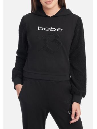 Bebe - Bebe Logo French Terry Hoodie BLACK