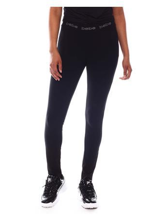 Bebe - Bebe Logo Waist Logo Skinny Pants BLACK