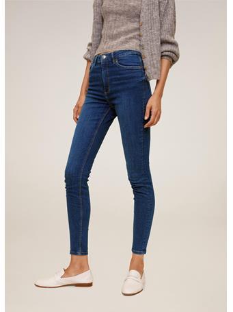 MANGO - High Waist Skinny Noa Jeans NAVY