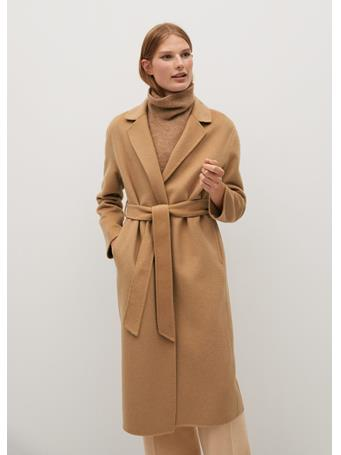 MANGO - Batin Coat MEDIUM-BROWN