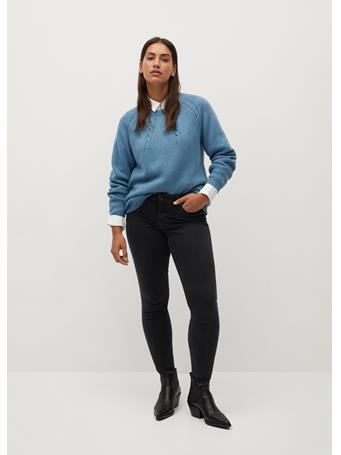 VIOLETA - Super Slim-Fit Andrea Jeans BLACK