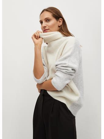 MANGO - Taldorac Turtleneck Oversize Sweater NATURAL-WHITE