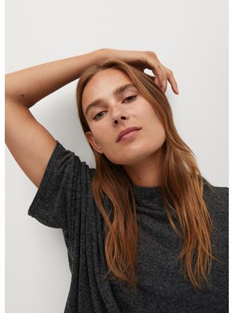 MANGO - Carol Oversize T-Shirt DARK-GREY