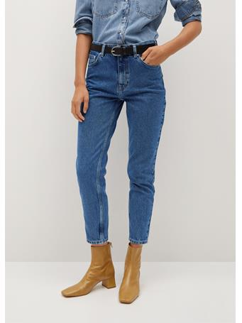 MANGO - Mom-Fit Jeans NAVY