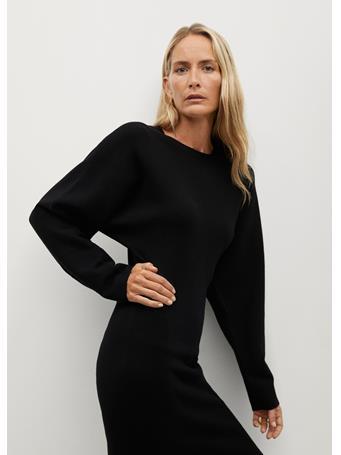 MANGO - Skins Dress BLACK