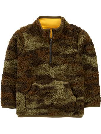 CARTER'S - 1/2 Zip Camo Fleece Pullover - (2T-5T) CAMO