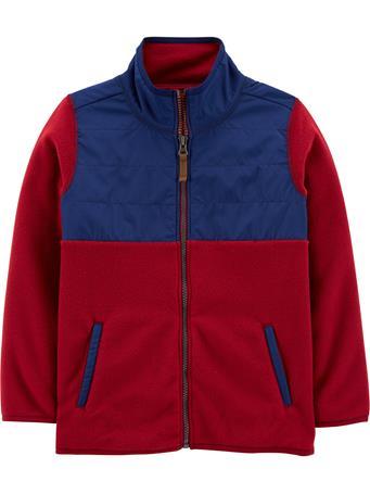 CARTER'S - Zip Up Fleece Jacket - (5-8) BURGUNDY