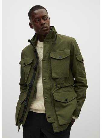 MANGO - Water-Repellent Sustainable Cotton Field Jacket KHAKI