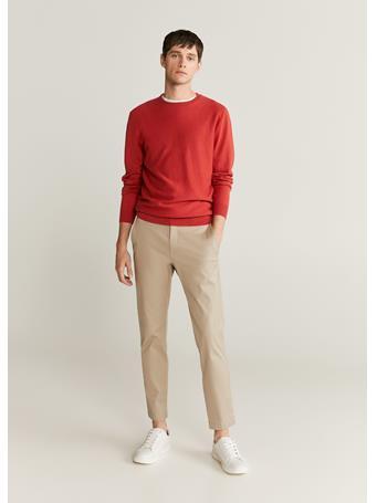MANGO - Cotton Cashmere-Blend Sweater ORANGE