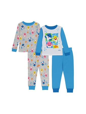 Baby Shark 4 Piece Pajama Set (2T-4T) NOVELTY
