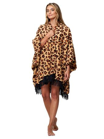 PJ COUTURE - Plush Wrap Robe LEO