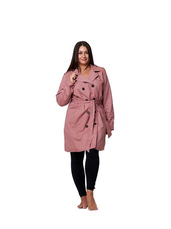 YOKI - Double Breasted Trench Coat - Size S-3X MAUVE