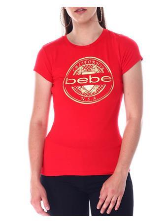 BEBE - Short Sleeve Foil Logo Tee RED