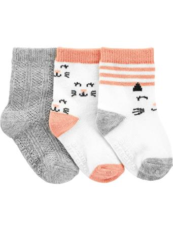 CARTER'S - 3 Pack Kitty Socks  NOVELTY
