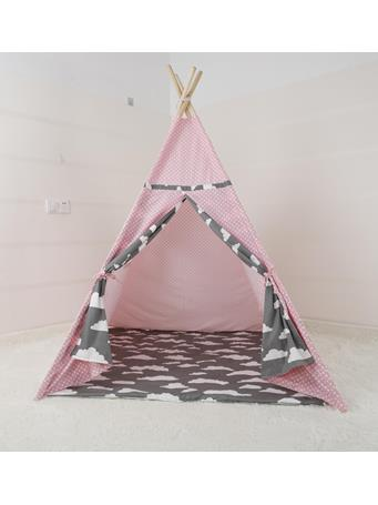 Cloud Print Teepee With Mat NO-COLOR