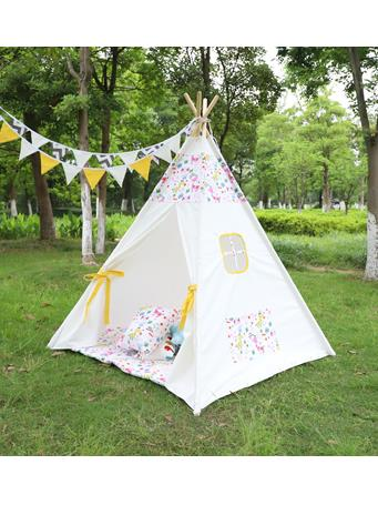 Confetti Dots Prints Teepee With Mat NO-COLOR
