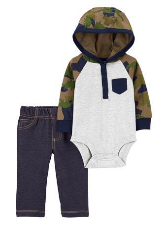 CARTER'S - 2 Piece Hooded Bodysuit Set  NOVELTY