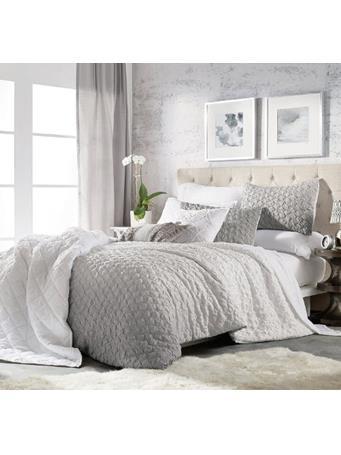 MICROSCULPT - Ombre Honeycomb Comforter Set GREY