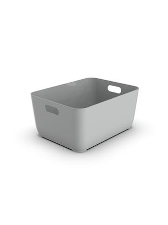 BLISS JOLLY - Plastic Bin with Handles GREY