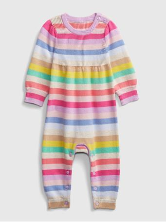 GAP - Baby Happy Stripe One-Piece MULTI-STRIPE