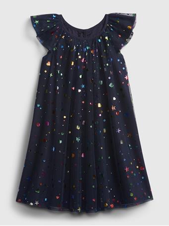GAP - Toddler Tulle Dress NAVY UNIFORM