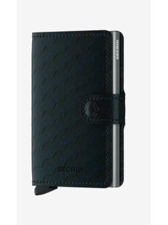SECRID - Mini Wallet with Fastener BLACK-TITANIUM