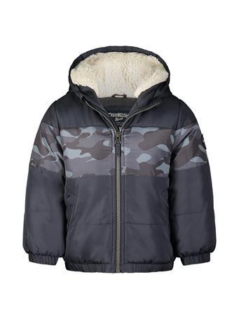 OSHKOSH - Color Blocker Puffer Jacket GREY