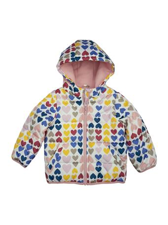 CARTER'S - Heart Print Bubble Jacket HEART