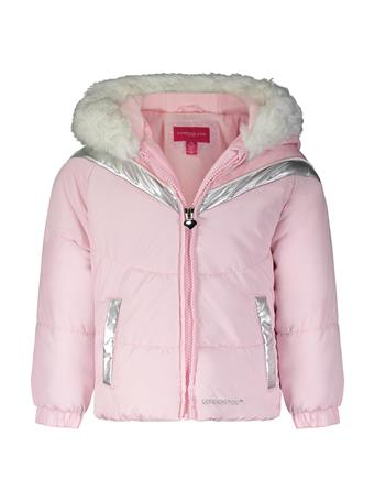 LONDON FOG - Active Bubble Jacket (2T-4T) PINK