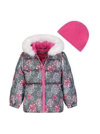 LONDON FOG - Printed Bubble Jacket (2T-4T) GREY