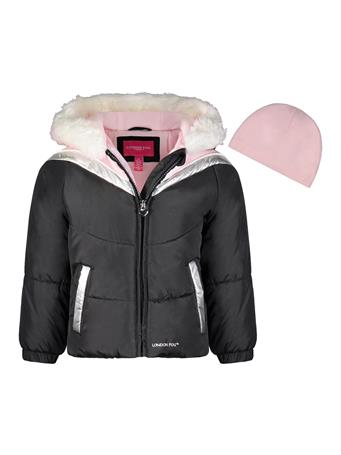 LONDON FOG - Active Bubble Jacket (4-6X) BLACK