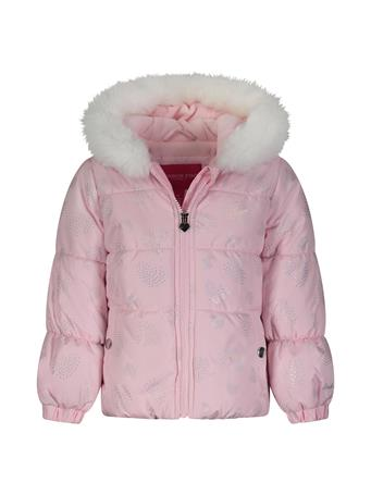 LONDON FOG - Foil Heart Print Bubble Jacket (4-6X) PINK