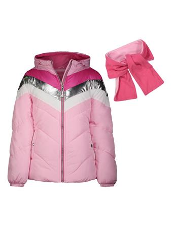 LONDON FOG - Active Chevron Bubble Jacket (7-16) PINK