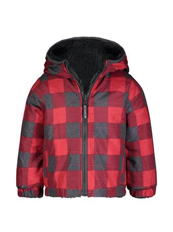 LONDON FOG - Check Midweight Reversible Jacket RED