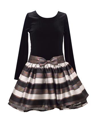 BONNIE JEAN - Stretch To Stripe Dress BLACK
