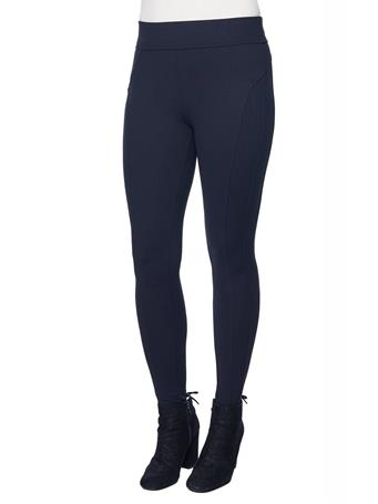 DEMOCRACY - Midnight Herringbone Ponte Glider Legging MIDNIGHT